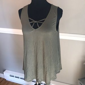 Cute Olive green sleeveless tunic